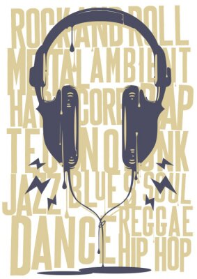Poster Painted Headphones
