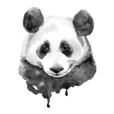 Poster Panda.Black und weiß. Isoliert