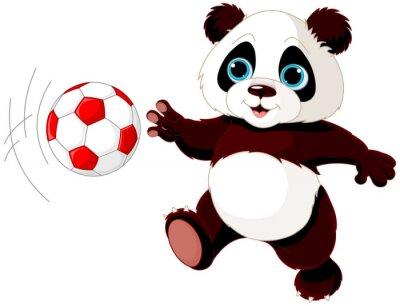 Poster Panda trifft den Ball