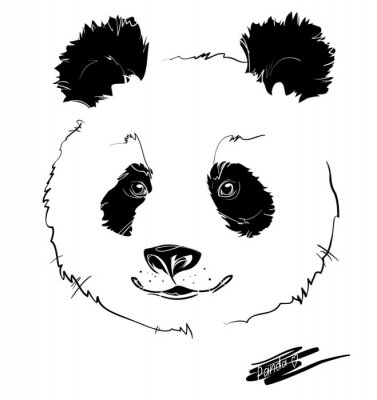 Poster pandakopf