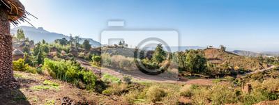 Panorama-Blick auf das Dorf Lalibela