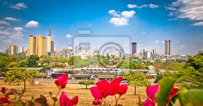 Poster Panorama-Blick auf Nairobi, Kenia.