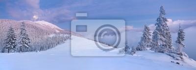Panorama der Winterlandschaft in den Bergen