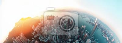Poster Panorama Hong Kong Stadt