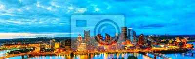 Panorama-Luftbild von Pittsburgh