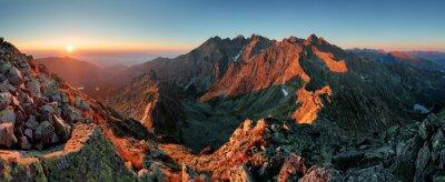 Poster Panorama mountain autumn landscape