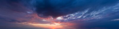Poster  panorama sky. Beautiful cloud in the sunrise sky background. Sky banners background.