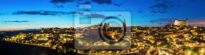 Panorama Toledo Abenddämmerung