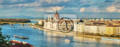 Panorama-Überblick über Budapest