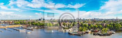 Poster Panoramablick auf Amsterdam