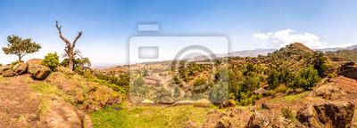 Panoramablick auf die Berge Lalibela