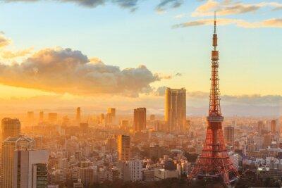 Poster Panoramablick auf Osaka von der obersten Etage des höchsten Gebäudes