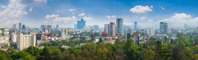 Poster Panoramablick von Mexiko-Stadt.