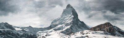Poster panoramic view to the majestic Matterhorn mountain, Valais, Switzerland