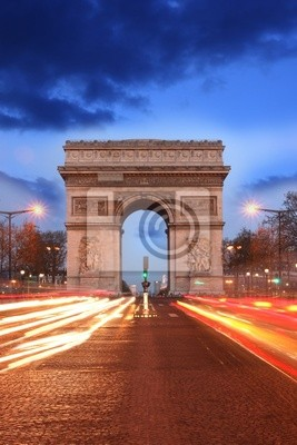 Paris, Arc de Triumph Famous am Abend, Frankreich