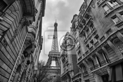 Paris Buildings with Eiffel Tower in the middle.