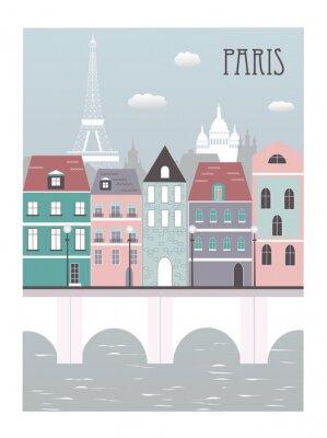 Poster Paris city.
