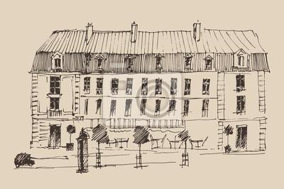 Paris, die Stadt der Architektur, Jahrgang eingraviert Illustration