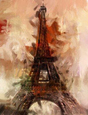Poster Paris Eiffelturm Eifelturm Gemälde Bild Kunst Ölgemälde