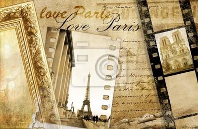 Paris Erinnerungen - künstlerischen Clip-Art