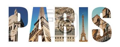 Paris France collage