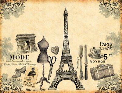 Poster Paris Hintergrund