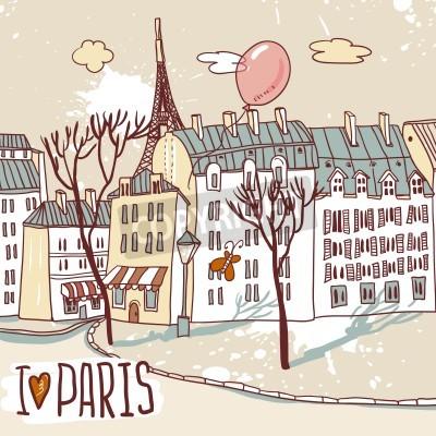 Poster paris städtischen Skizze