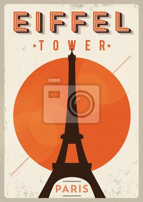 Paris-Weinlese-Plakat-Entwurf