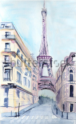 Poster Pariser Architektur. Eiffelturm