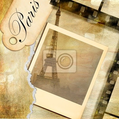 Pariser Bilder - Jahrgang fotoalbum