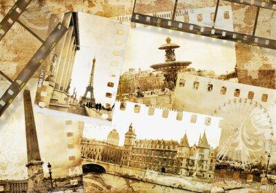 Pariser Erinnerungen - alte Foto - Album