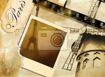 Pariser Erinnerungen - Jahrgang fotoalbum
