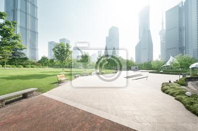 Poster Park in Lujiazui Finanzzentrum, Shanghai, China