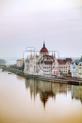 Parlamentsgebäude in Budapest, Ungarn
