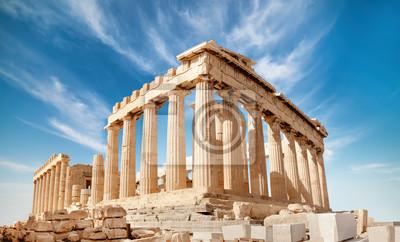 Poster Parthenon auf der Akropolis in Athen, Griechenland