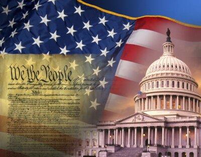 Poster Patriotische Symbole - Vereinigte Staaten von Amerika