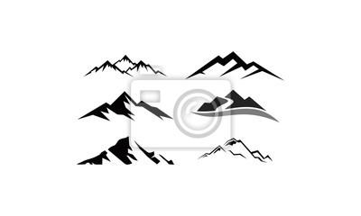 Poster peak logo mountain icon