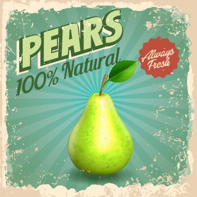 Poster pears vintage