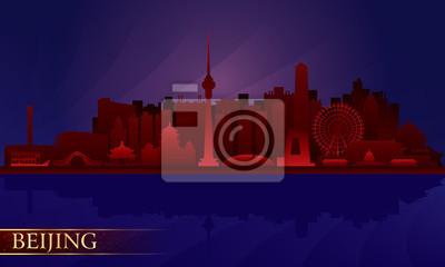 Peking Nacht Skyline der Stadt