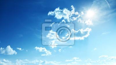 Poster Perfekter blauer, sonniger Himmel