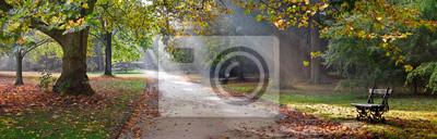 Poster Pfad in der Herbst-Park. Herbst-Landschaft.