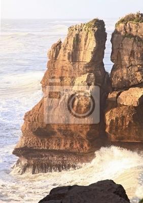 Pfannkuchen-Felsen an der Westküste von Neuseeland