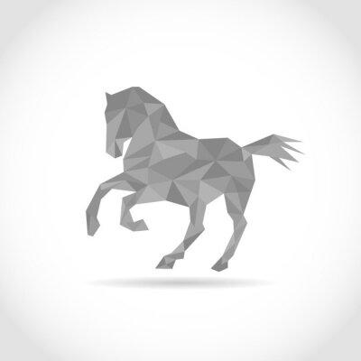 Poster Pferd im Polygon-Stil. Niedrigen Poly-Design in Dreiecken