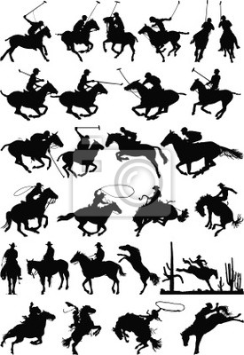 Pferd Silhouetten Vektor-Mix