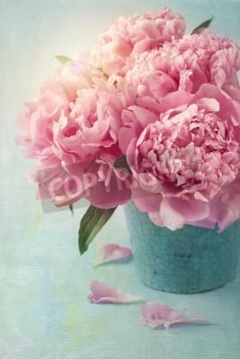 Poster Pfingstrose Blumen in einer Vase