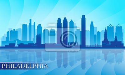 Philadelphia Skyline detaillierte Silhouette
