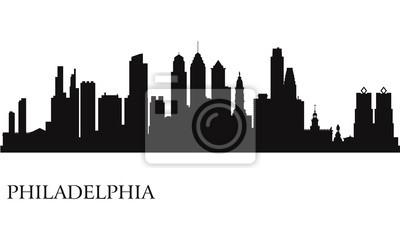 Philadelphia Skyline Silhouette Hintergrund