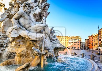 Poster Piazza Navona, Rom in Italien