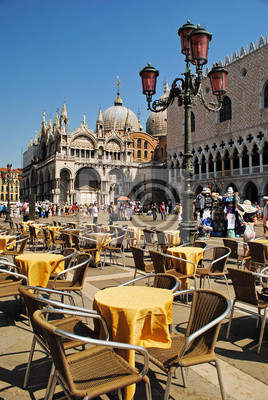 Piazza San Marco mit Campanile, Basilika San Marco und Doge Pal