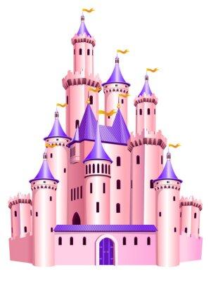 Poster Pink Prinzessin Schloss.